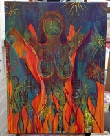 <h5>Woman In The Flames</h5><p>Acrylic on Canvas - 30 x 40 inches</p>