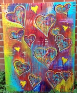 <h5>Hearts</h5><p>Acrylic on Canvas - 30 x 40 inches</p>